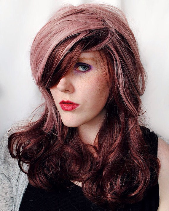 Chocolate Strawberry: this is such a lovely color if your wanting something a little more unique. Try a pale pink and a mahogany brown.