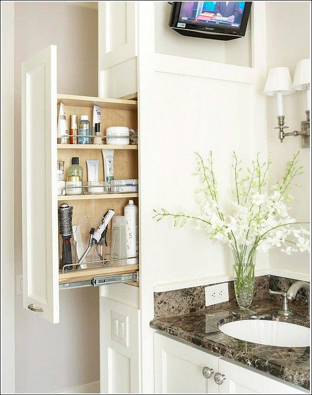 Add as many pull-out shelves as you can – no matter how narrow!