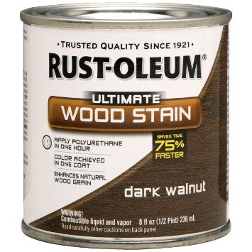 To finish it off, I stained the whole thing with Rust-Oleum Ultimate Wood Stain in Dark Walnut.
