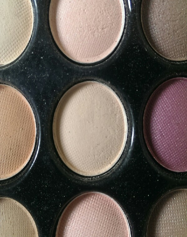 cover the lid with a pale matte eyeshadow, stopping 1cm/0.5mm from the eyebrow