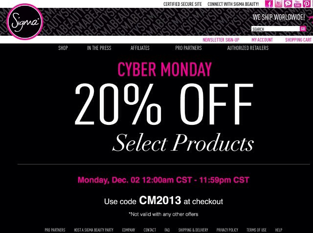Sigma is also offering a Cyber Monday deal! 20% off Dec 2 all day.
