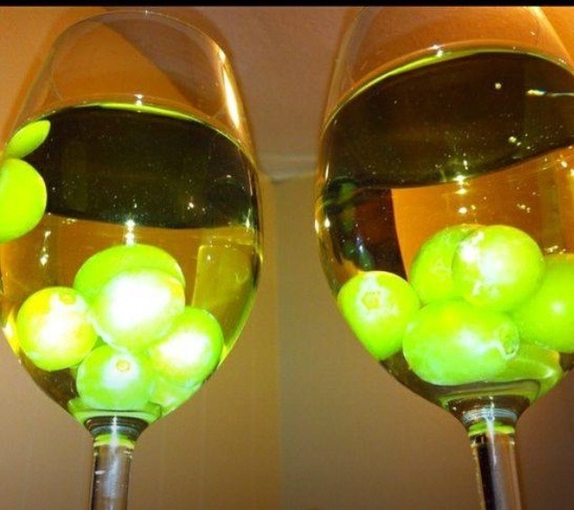 Freeze green grapes and put in white whine and bring on an awesome party atmosphere