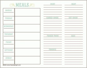Everyone in your family will appreciate having a menu plan in place