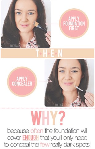 7. Switching up the order in which you put on your makeup can make a HUGE difference.