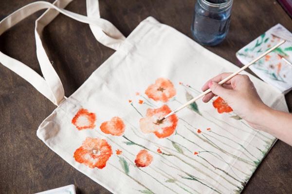 Watercolor Bag