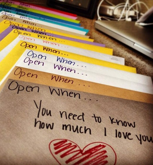 Letters to give to your boyfriend