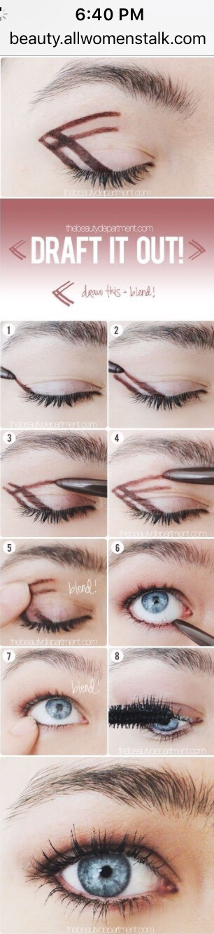 Create an easysmokey eye look by following this tutorial above! It looks beautiful in the end!