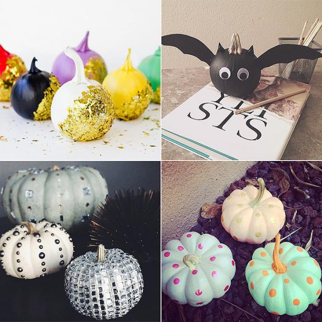 Halloween Pumpkin Designs Without Carving Part - 31: 25+ Ways To Decorate Pumpkins Without Carving