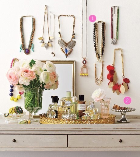 Use necklaces for decor