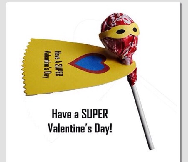 Glue on the eyes to a sucker. Super hero valentines. Totally original!