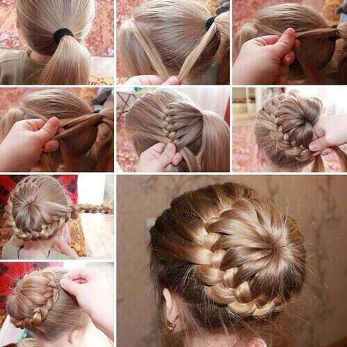 Musely cool french braid around bun tutorial verry beautiful ccuart Images