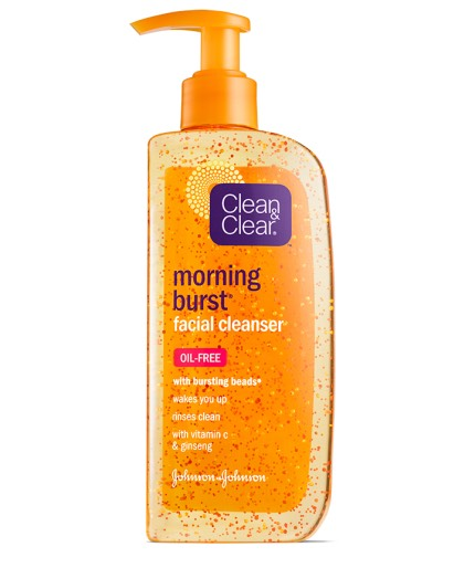 I use my clean and clear morning burst face wash
