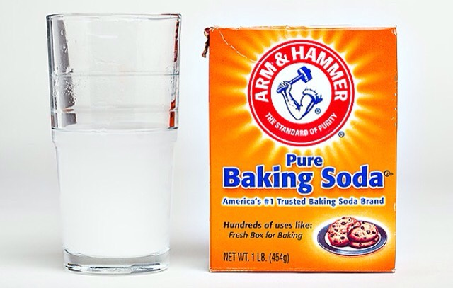 You'll need.. Baking soda Water And a table spoon measuring cup.