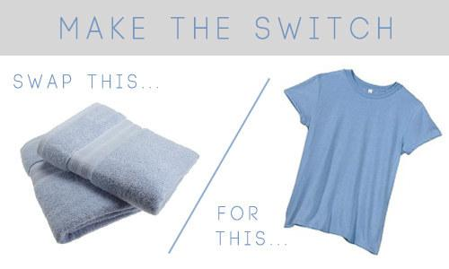 40. Save so much time by drying your hair with a tee shirt instead of a towel.