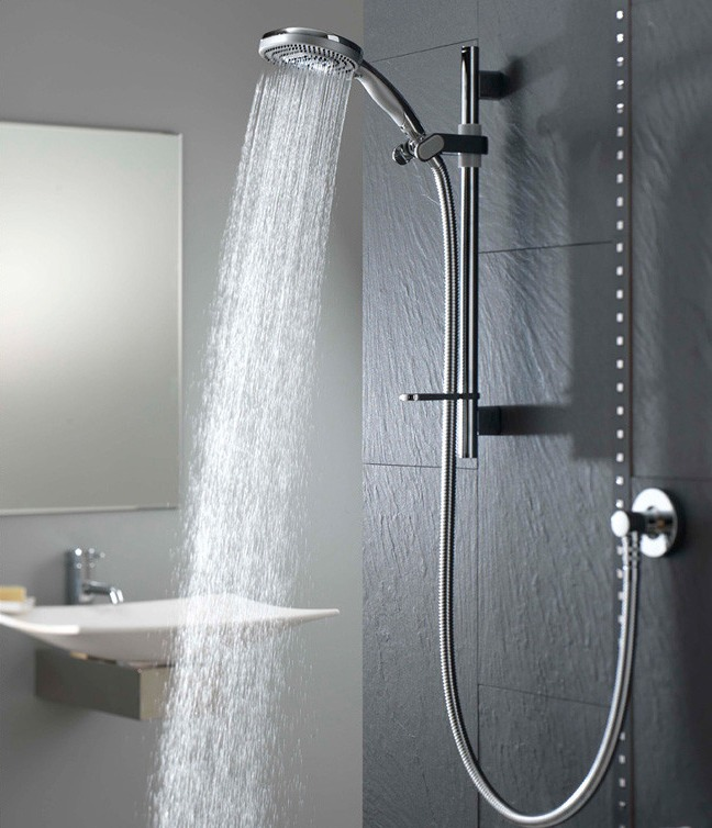 Shower on hot water with the water pointed at you stomach