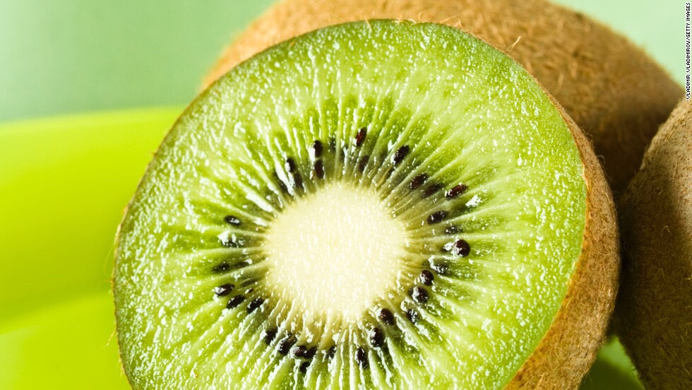 Kiwi!!! Yes, if you cut up both fruits and make a shish kebab (line the fruit up on a metal rod) the tartness of the kiwi brings out the sweet in the strawberry!