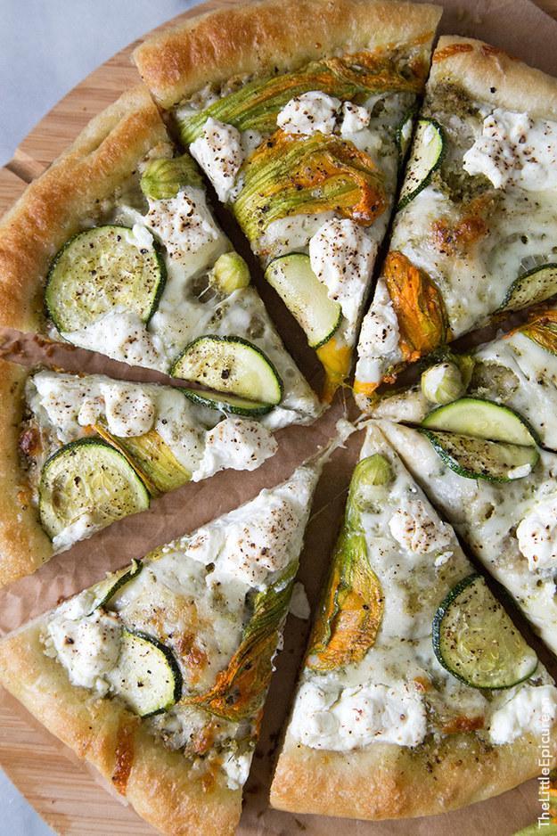 13. Ricotta and Squash Blossom Pizza