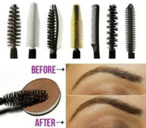 Use your old wand to apply shadow to your brows