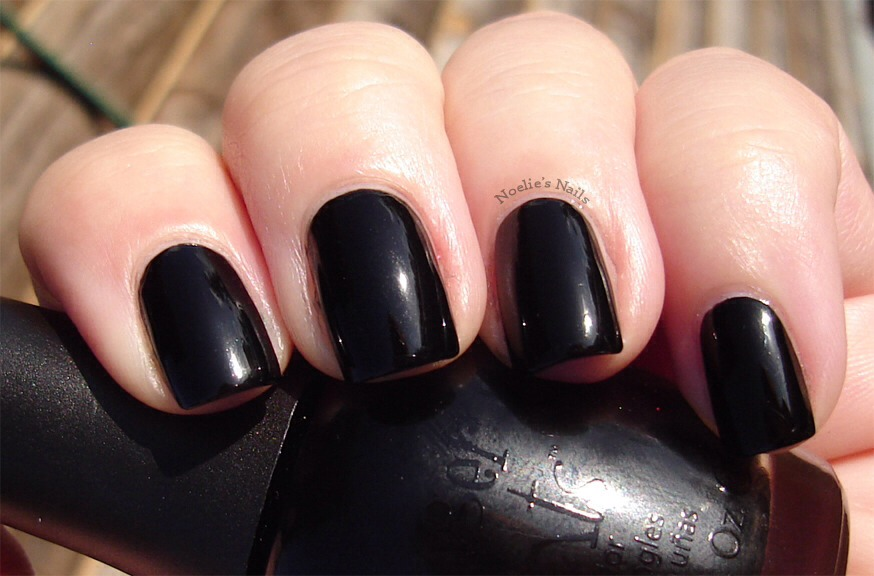 First paint your nails all black