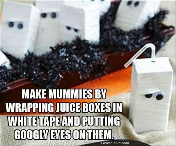 1. Mummy Juice Boxes