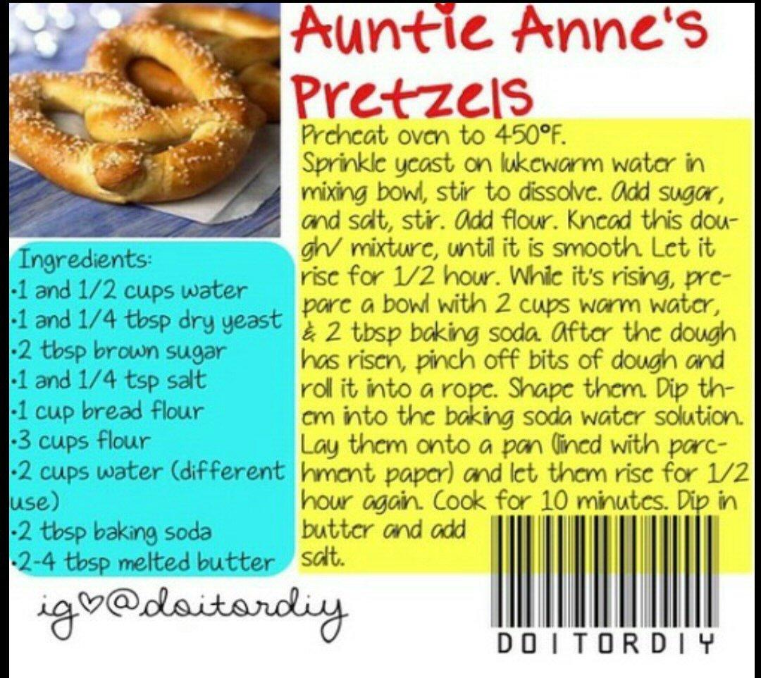 famous auntie anne's pretzel recipe