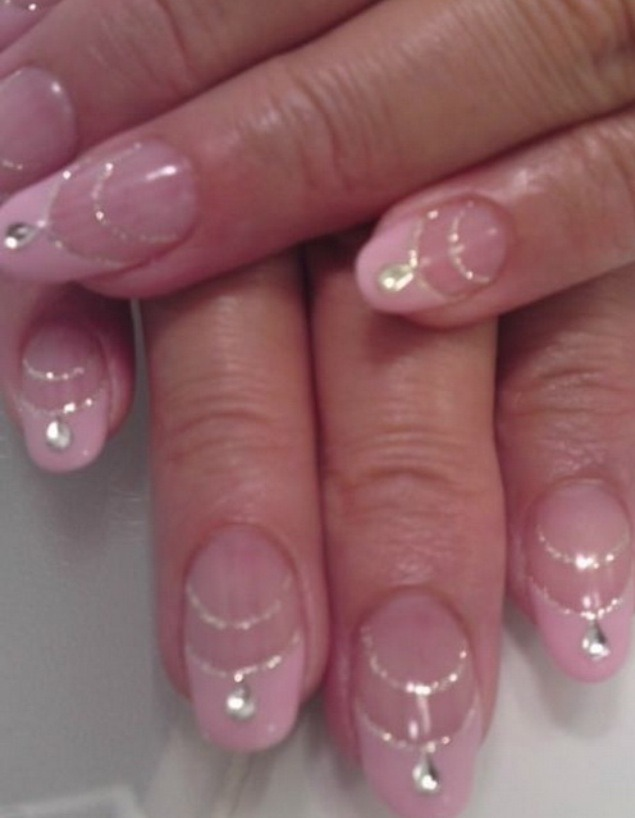 Ballet Slipper Nail Design