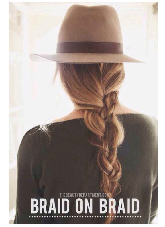 Keep it simple: This is my go-to trick for rainy days. I do a simple braid but one of the 3 strands is other braid, so it's a braid within a braid. I do that and pull out a couple loose pieces around my face, pop a cute hat on and go.