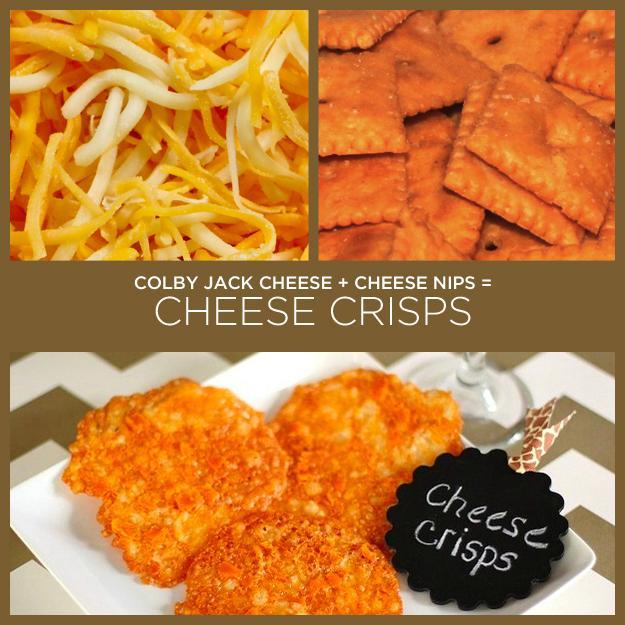 Colby Jack Cheese + Cheese Nips = Cheese Crisps