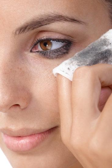 Remove stubborn eye makeup.