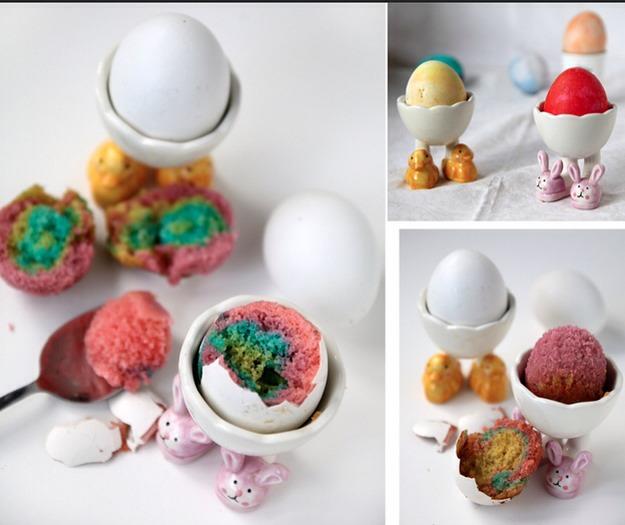 """4. """"Soft Boiled"""" Easter Egg Cakes"""