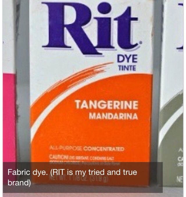 Fabric dye only use this one others won't work