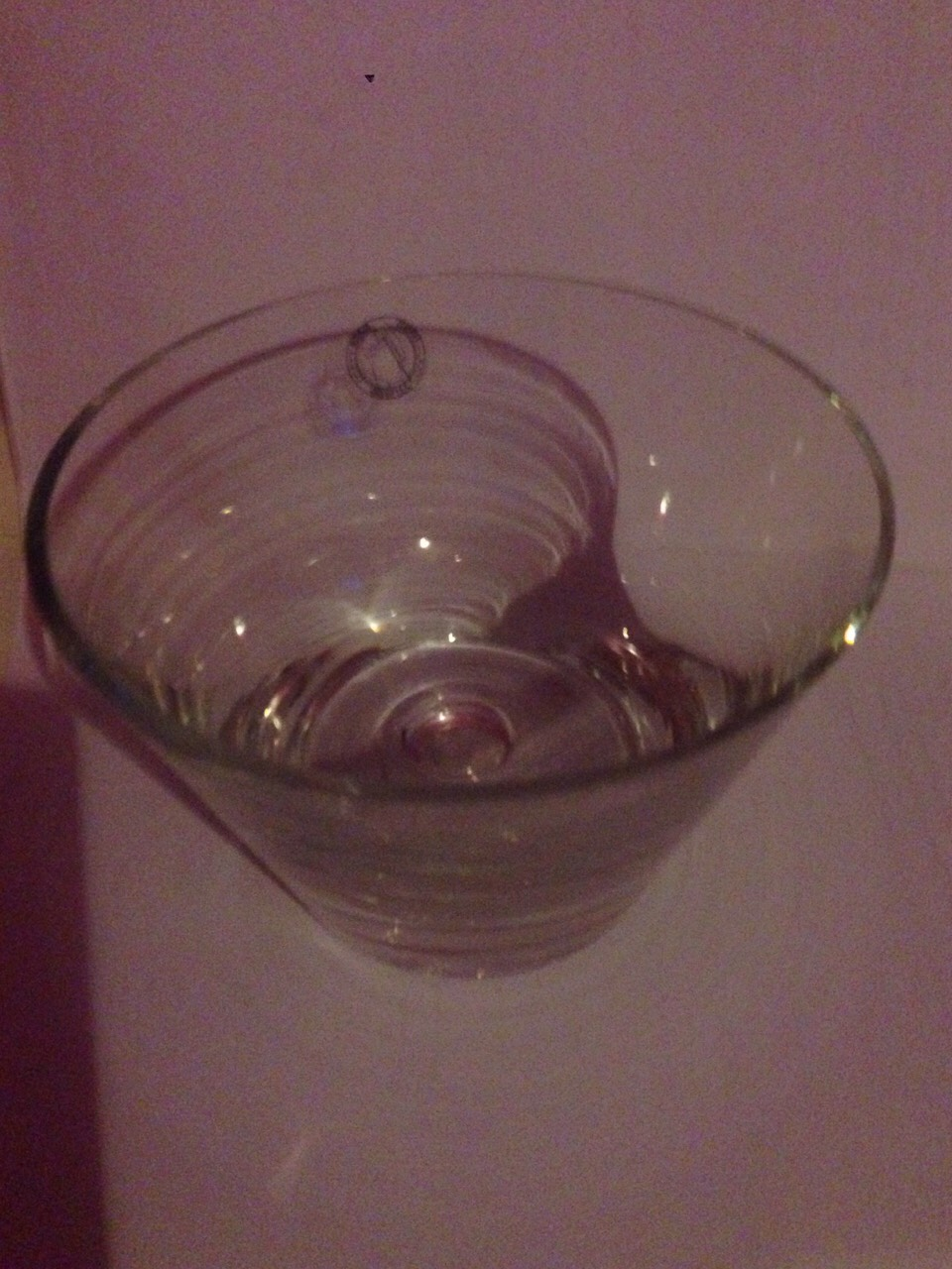 Place your glass bowl where ever you want