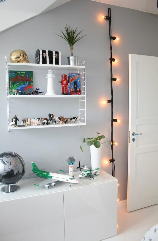 12. Or hang them from a hook in a kid's room for a modern nightlight.