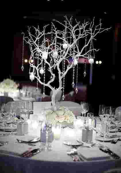 The amount of decorations you can have with a winter wedding is incredible