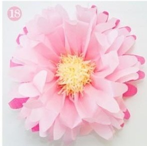 Musely diy large tissue paper flower mightylinksfo