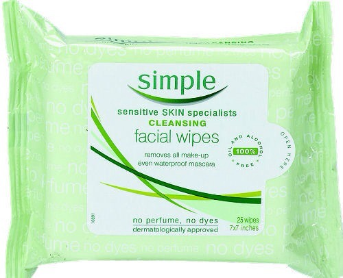 6. Use wipes to remove makeup