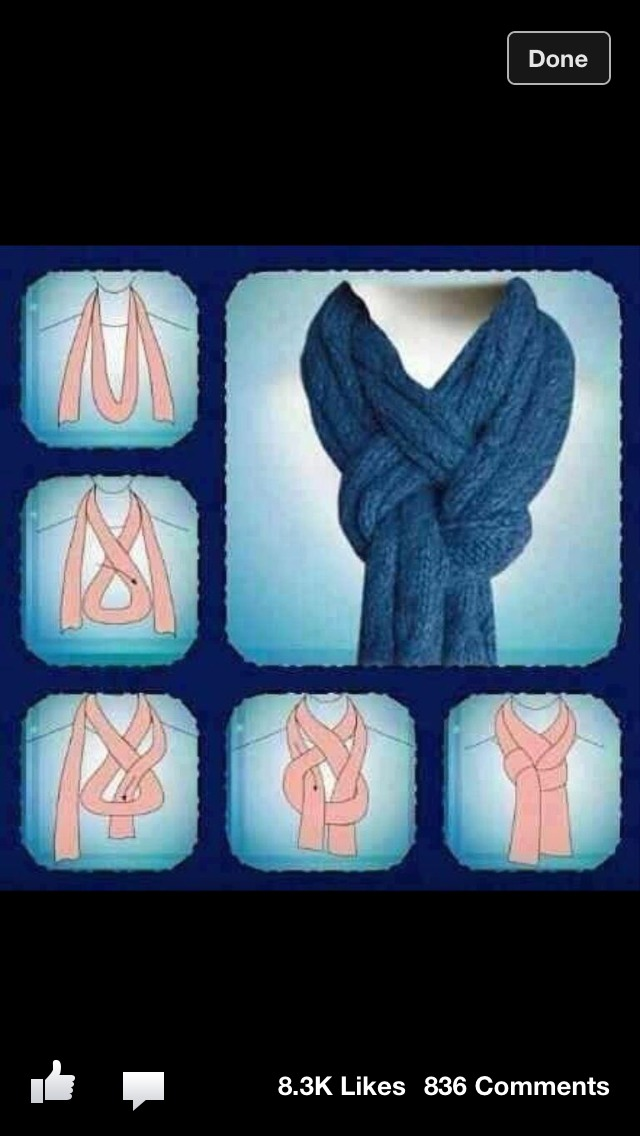 Very Classy way of doing your scarf!!