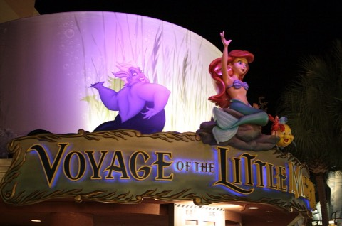 In The Voyage of the Little Mermaid show, Disney adds helium to the bubble makers to create bubbles that float up instead of down.