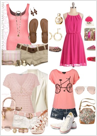 Be pretty in pink. Add more pink to your summer outfits