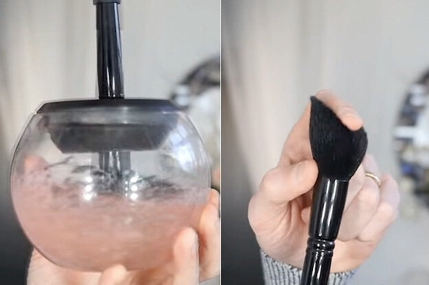 6. Makeup-Brush Cleaner. Cleaning your makeup brushes should be a monthly ritual. You can use a DIY cleanser that's two parts antibacterial soap and one part coconut oil.