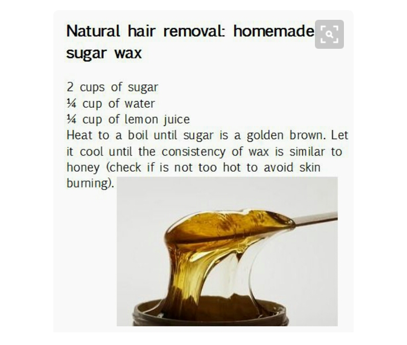 Natural Hair Removal Homemade :Sugar Wax by Georgette