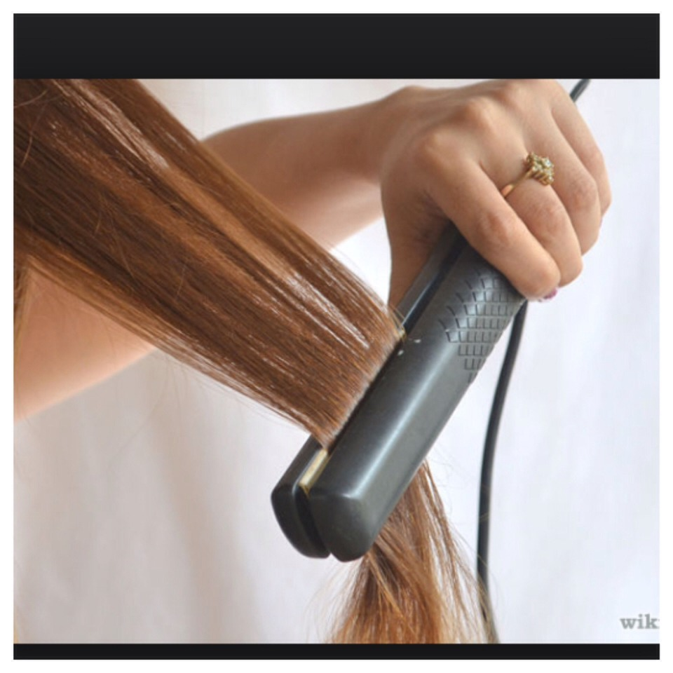 3 STAY AWAY FROM HEAT PRODUCTS! Straighteners, hair dryers, curling irons , etc cause damage to hair. Use these as little as possible.