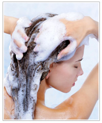 rinse out with shampoo and conditioner
