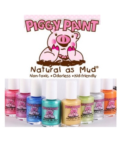 Piggy paint is:  Low odor Non-Toxic Natural Hypoallergenic  For the adults...Try Sophi by piggy paint!  AND...don't forget the nail polish remover!!!