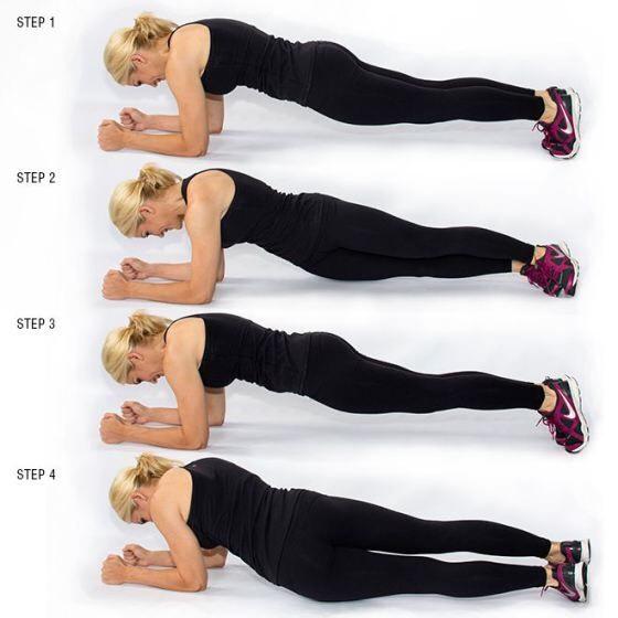 30 plank twists