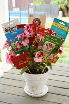 A gift card bouquet