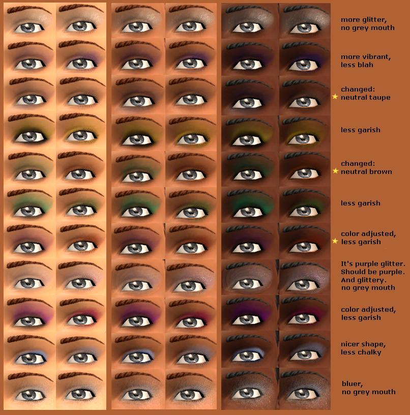 DOshade and define your eyes. Eyeshadow is all about enhancing your eye area, not coloring it. It's best not to use eyeshadow colors that match your eye-blue eyeshadow does not make blue eyes look better, it just looks out of date and overdone, which is why you rarely see examples of this in fashion magazines. Shades of brown (there are dozens and dozens) all the way to black allow for an amazing range of sophisticated, glamorous, elegant, and classic looks.