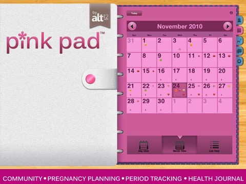 Pink Pad is a period tracker! It's free and SO useful. It tracks cramps, other symptoms, flow, mood... Etc. a great necessity