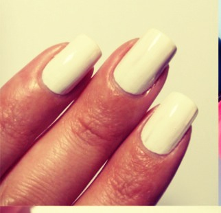 First paint your nails white, to make the colour pop!