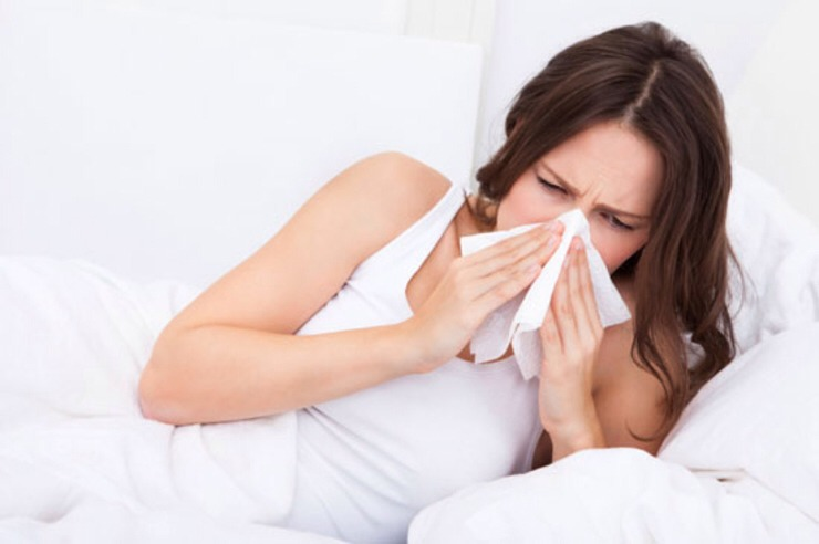 Practice proper cold and flu hygiene.   Don't spread your sickness to others, and don't pick up another person's flu virus on top of your cold. Cover your coughs and sneezes, sanitize germy spots and perfect your hand-washing techniques.